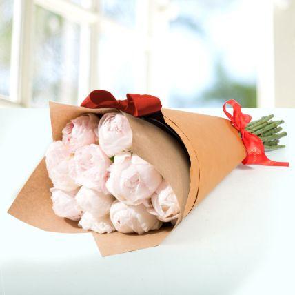 10 Light Pink Peonies Bouquet