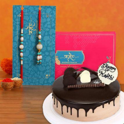 Chocolate Cake With Rakhi Set