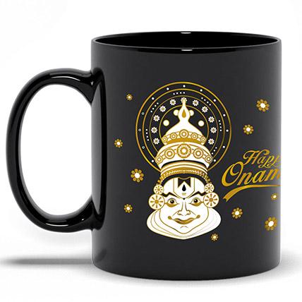 Happy Onam Black Printed Mug