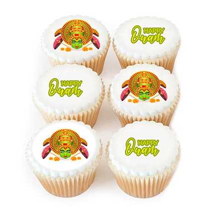 Happy Onam Photo Cupcakes