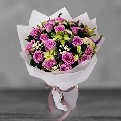 Beautiful Purple Roses Bouquet