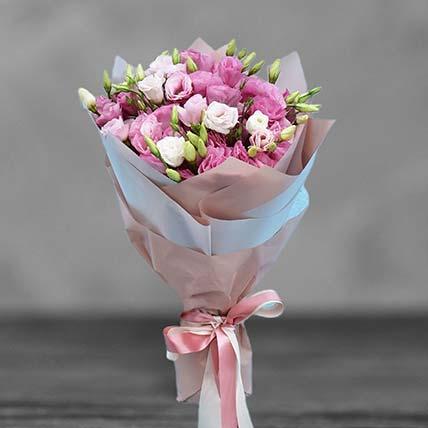 Blushing Pink Lisianthus Bouquet