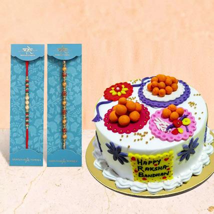 Pearl Rakhi With Cake