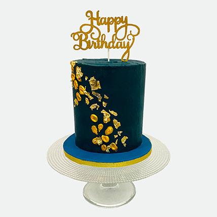 Happy Birthday 1.5 Kg Vanilla Theme Cake