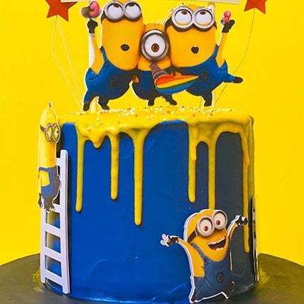 Minion Black Forest 1 Kg Cake