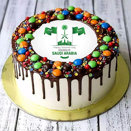 National Day M&M Chocolate Cake Half Kg