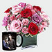 Roses Arrangement And Personalised Mug