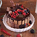 Candy Topped Chocolate Cake Half Kg