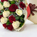 Beauty Of Red & White 20 Roses