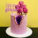 Happy Birthday 1 Kg Marble Floral Cake