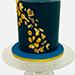 Happy Birthday 1.5 Kg Marble Theme Cake