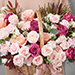 Delightful Mixed Flowers Basket