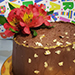 Chocolate Cake With Flower- 1.5 Kg