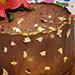 Chocolate Cake With Flower- Half Kg